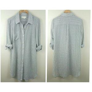 Michael Michael Kors stripe flowy shirt dress